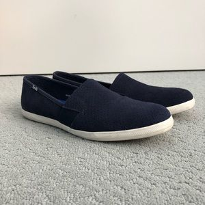 Keds navy suede slip on sneaker Size 8.5